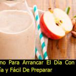 Rico Desayuno, Batido De Manzana Y Almendras